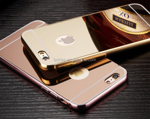 Luxury Aluminum Ultra-thin Mirror Case Cover for iPhone 6,For iPhone 6s case