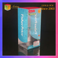 China supplier Print clear folding plastic box, PVC/PET/PP blister box