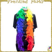Rainbow mardi gras ostrich feather boa FGMG-0100