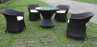 Charlotte Outdoor Comfortable hotel/garden/restaurant Leisure Rattan Furniture coffee table and chairs Luxury Dining Set