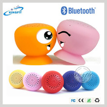 Oem mushroom mini hi-fi wireless silicone bluetooth speaker with suction cup with handfree function