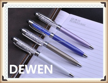 small size metal crystal twist pen,short crystal metal touch ball pen
