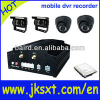 3g wifi gps 4ch mobile car dvr with free cms software surveillance kits