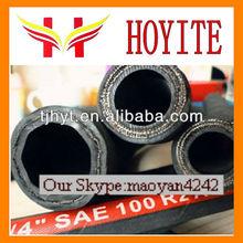 hoyite la resistencia de aceite de goma tubo de alambre de acero trenzado