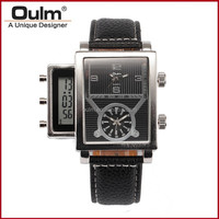2015 oulm design led watch, men's watch with led screen, digtal led watch
