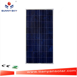 china solar panels cost 100w poly solar cell module for wholesale TYP100