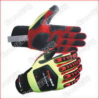 Superior Cow Split Leather Heavy Duty Safety Industrial Gloves With High Quality