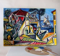 Canvas oil painting reproduction Mediterranean Landscape by Pablo Picasso