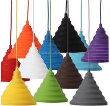 pendant hanging socket ceiling light fixturer Silicone folding lampshade