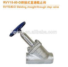 rvy soldadura recta válvula de parada para el amoníaco sistema de refrigeración