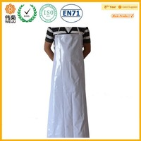 White lengthen thickening waterproof industrial pvc apron with sleeveless