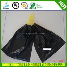 epi garbage bags wholesale / drawstring DOG WASTE BAG ON ROLL / yellow dog poop bag