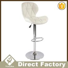 French style loop leg material height adjustable chromed base good selling bar chair