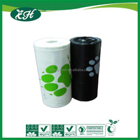 Eco friendly customizd print dog waste bag with kratf box and dispenser