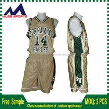 Custom sublimation quick dry fit basketball jersey uniform design