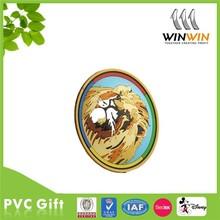 Lion soft PVC cheap cup coaster/Vivid cup mat