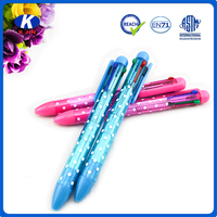 wholesale customized printed 4 in 1 multi-color ball pen