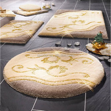 Latest Fashion Wholesale bathroom rug set Non Slip Latex backing Washable Rug