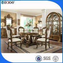 metal dining table chair/rattan dining table sets/thick wood slab dining table