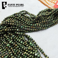 unusual bronze-coloured baroque pearl freshwater pearl dye baroque pearl 37 hole