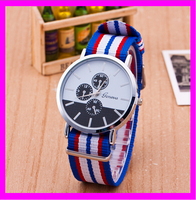 KD5305-2 Relojes Mujer 2015 Fashion GENEVA Women's Watches Fabric Strap Quartz Ladies Watch