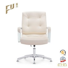 Traditional Button Tufted Leather meeting chair