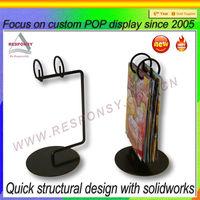 Brochure and business card display stand metal brochure display