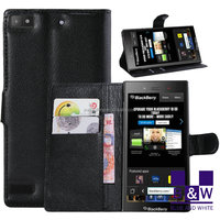 For Blackberry Z3 Phone Case , Credit Card Solts Flip Leather Case Cover for Blackberry Z3 with Wallet Stand