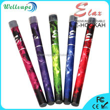High quality colorful huge vapor 500 puffs elax e hookah malaysia