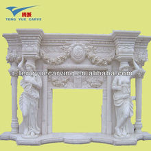 high quality carving marble fireplace
