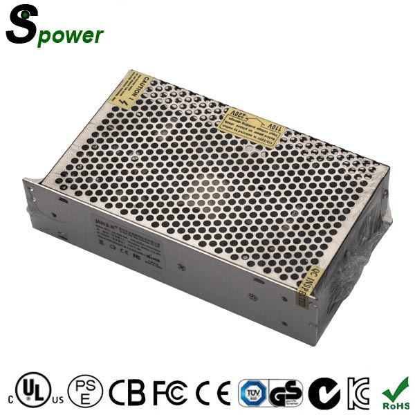 CE ROHS approved Single Output 200W 5V 40A LED Power Supply