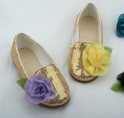 wholesale sequin kids gilr korean style flat feet shoes