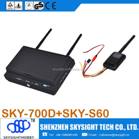 SKY-700D 7 inches tft lcd monitor DVR SKY-S60 WIRELESS video OSD FPV transmitter fpv plane