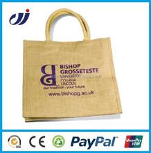 Promotional Natural Jute Bottle Bag with PVC Window/bag with bottle compartment/jute beer bottle bag