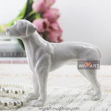 Lovely Ceramic Animal Figures White Ceramic Dog Fox Figurine