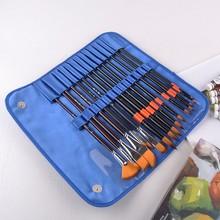 Hot Amazon Nylon painting brushes set tools for art artist brush set wholesale art supplies