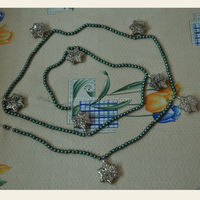 Antique glass christmas ball garland with maple leaf ornaments from Shenzhen factory