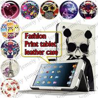 "For ipad Mini 2 7.9"" Tablets Printing Folding PU Leather Media Stand Folio Case Cover"