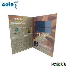 LCD greeting card brochure advertising ,make lcd advertising diaplay cards