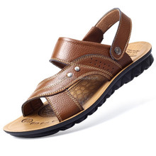 2015 Hot selling Men Outdoor Leather Sandals slipper