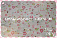 hotsale soft twill brushed cotton fabric with printing pattern