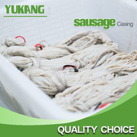 Top sale good quality 90 meters 24/26A natural salted sheep casing / animal Intestine for cooked ham