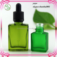 New Type Olive oil 15ml 30ml glass square bottle with child&tamper proof cap