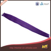Top quality 5A Grade tape purple human hair