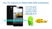 wholesale prcie Android 4.4 quad core 4g lte smartphone with led flash digital camera