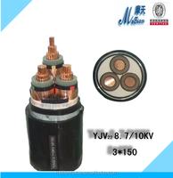 China manufacturer 1 core 3 core copper conductor 8.7/10kv XLPE power cable