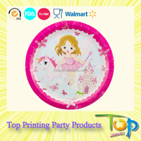 2015 Hot Sweet Cupcake Girls Party Dinner Gold Paper Plates