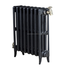 Old style 4-column cast iron radiator with primer coating BGL-660-RD