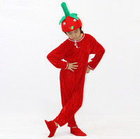 child Strawberry performance suits cartoon plant jumpsuits costumes