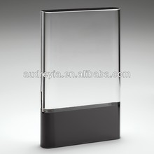 blank crystal glass clear and black crystal